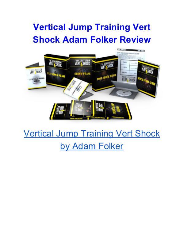 Vertical Jump Training Vert Shock Adam Folker Vertical Jump Training Vert Shock Adam Folker Revi