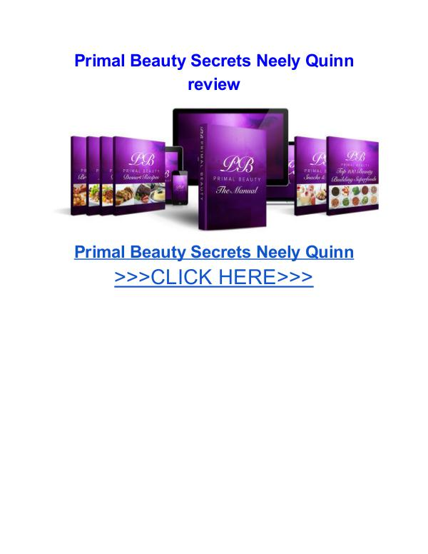 Primal Beauty Secrets Neely Quinn Primal Beauty Secrets Neely Quinn review
