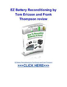 EZ Battery Reconditioning Tom Ericson Frank Thompson