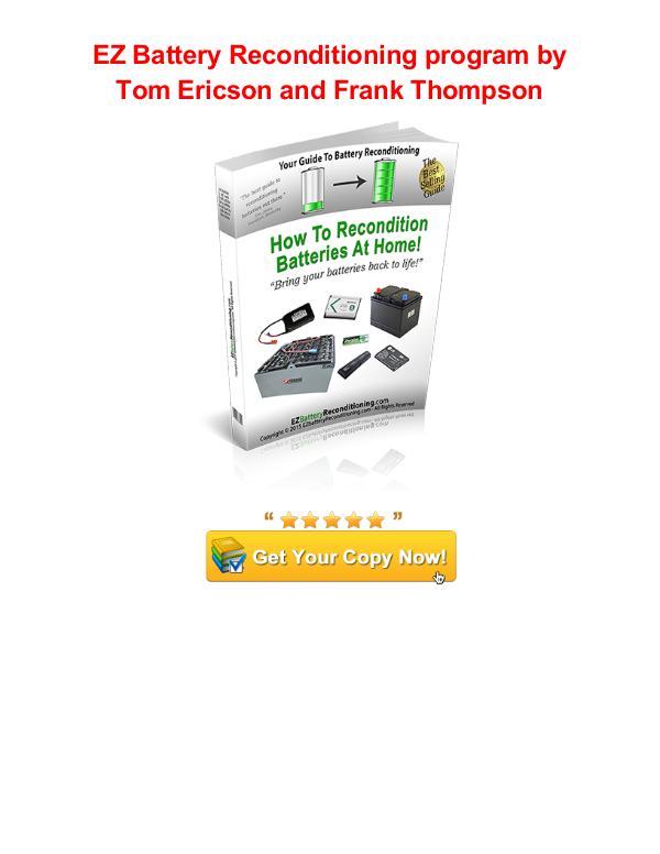 EZ Battery Reconditioning Tom Ericson Frank Thompson EZ Battery Reconditioning program review pdf
