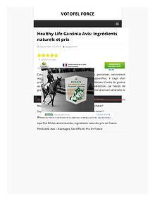 Safety Of Healthcare Supplement - Healthy Life Garcinia
