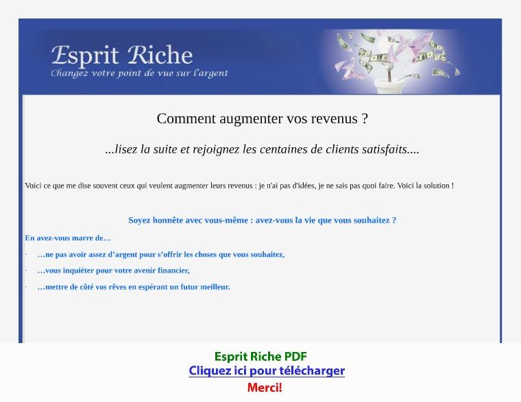 Esprit Riche [PDF]