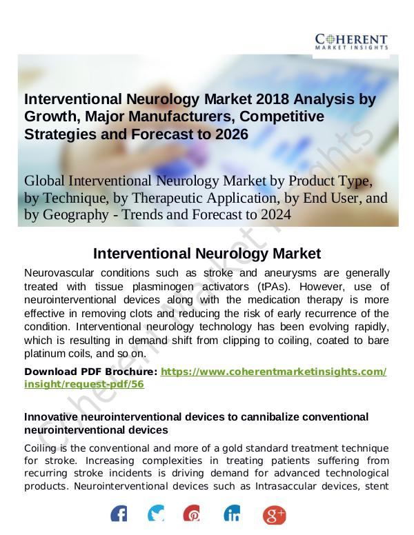 Stairlifts Market: Foresees Skyrocketing Growth in the Coming Years Interventional Neurology