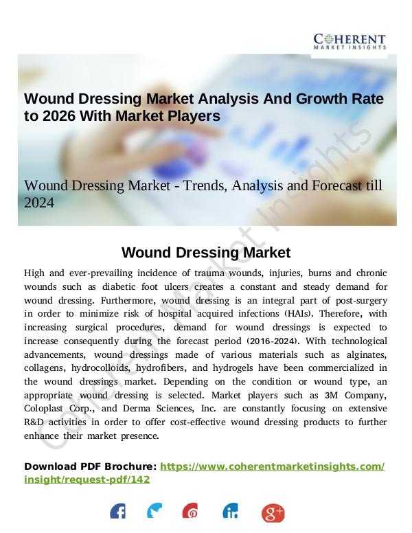 Stairlifts Market: Foresees Skyrocketing Growth in the Coming Years Wound Dressing Market