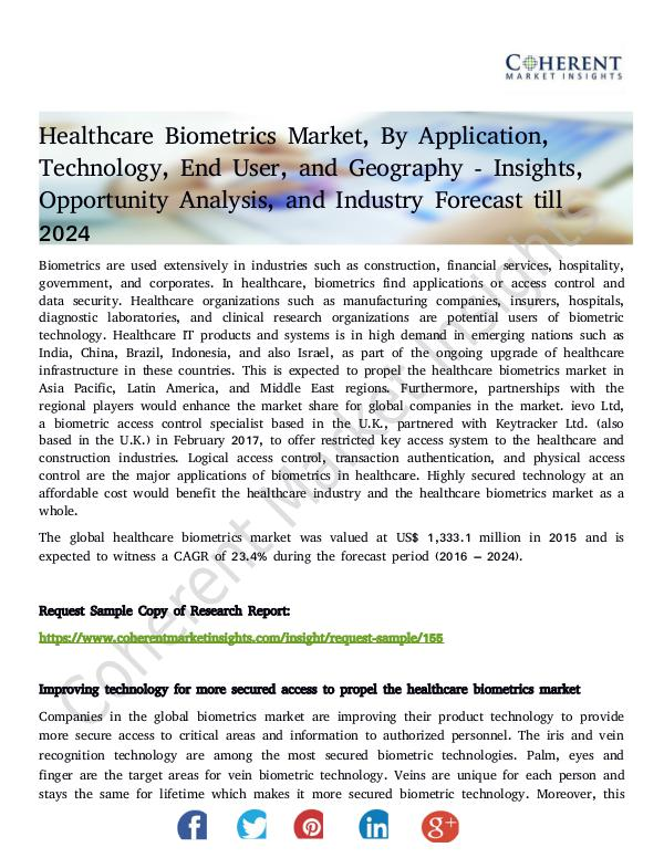 Stairlifts Market: Foresees Skyrocketing Growth in the Coming Years Healthcare Biometrics Market