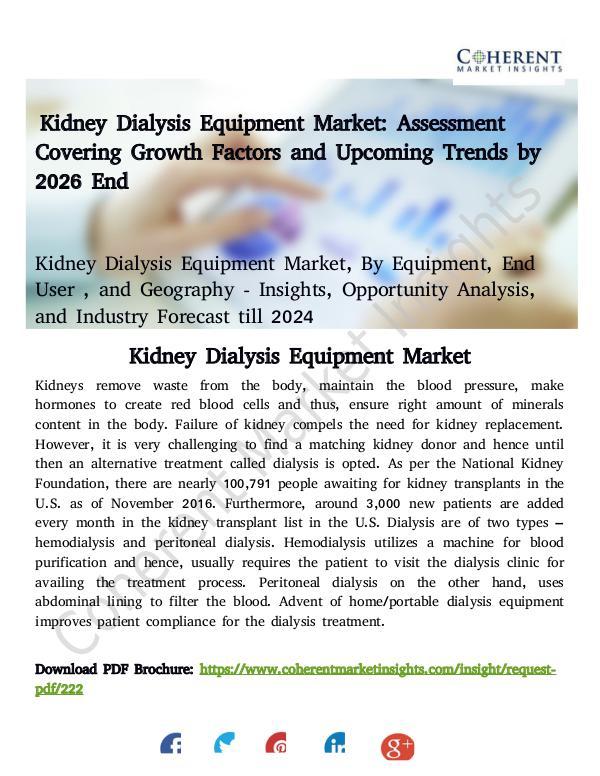 Kidney Dialysis Equipment Market