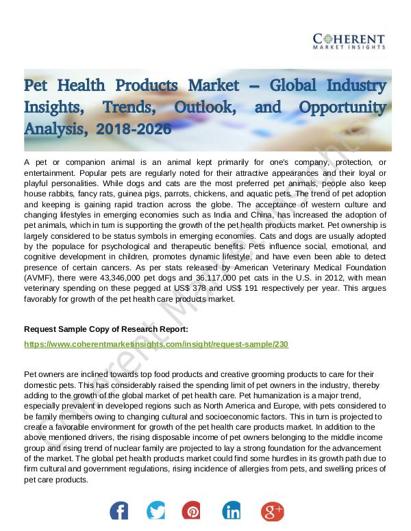 Stairlifts Market: Foresees Skyrocketing Growth in the Coming Years pet Health Products Market
