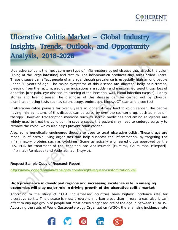 Stairlifts Market: Foresees Skyrocketing Growth in the Coming Years ulcerative Colitis Market