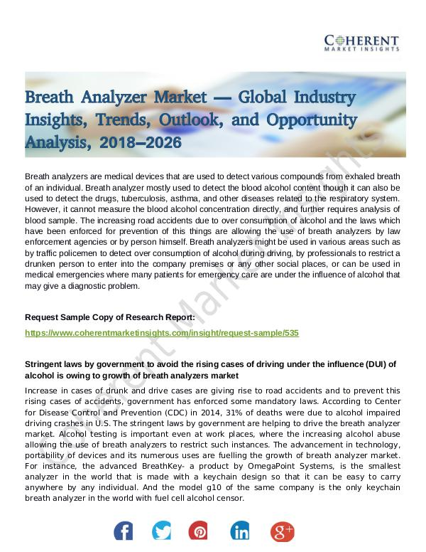 Stairlifts Market: Foresees Skyrocketing Growth in the Coming Years Breath Analyzer Market