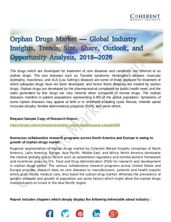 Stairlifts Market: Foresees Skyrocketing Growth in the Coming Years Orphan Drugs Market