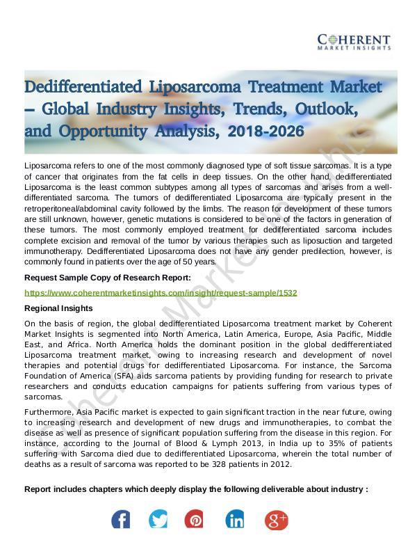 Dedifferentiated Liposarcoma Treatment Market