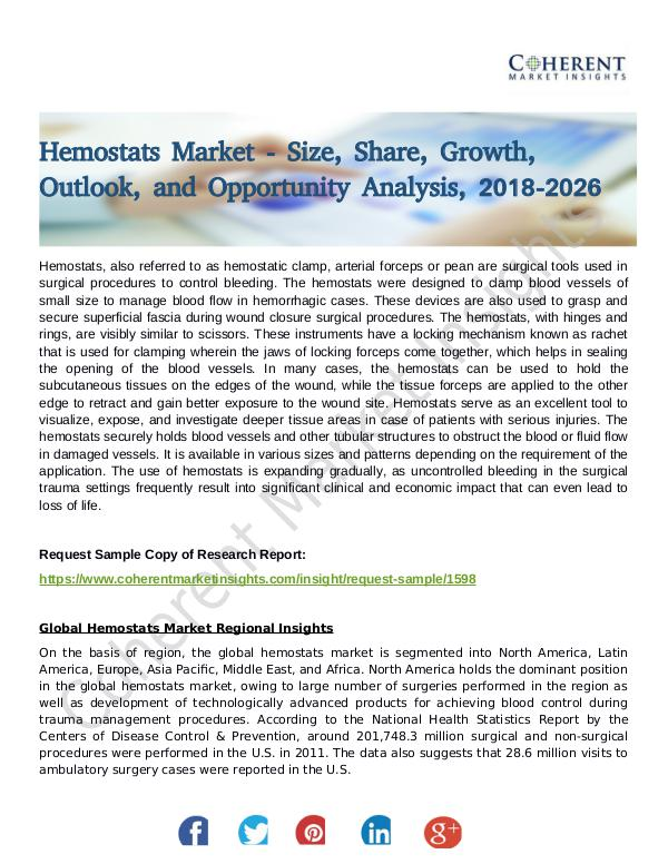 Stairlifts Market: Foresees Skyrocketing Growth in the Coming Years Hemostats Market 1