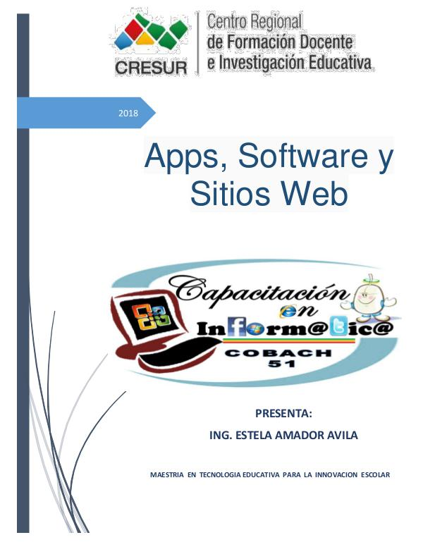 Apps, software y sitios web Semana 2_Act.1 Revista digital_Estela Amador Avila