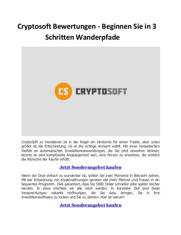 Cryptosoft Cryptosoft Bewertungen - Beginnen Sie in 3 Schritt