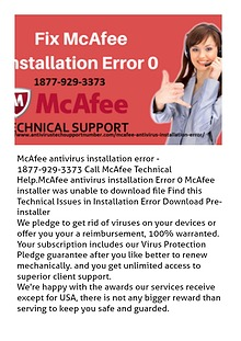 McAfee Antivirus Installation Error Solution