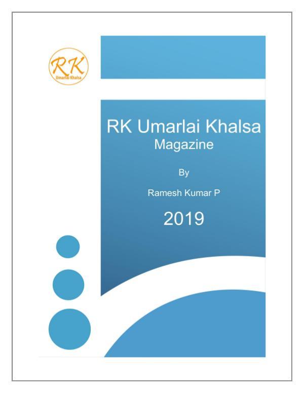 RK Umarlai Khalsa Magazine RK Umarlai Khalsa Magazine