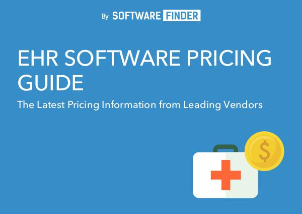 EHR Software Vendors ehr-software-pricing-guide