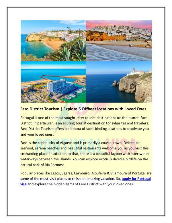 Faro District Tourism | Explore 5 Offbeat locations with Loved Ones Faro District Tourism