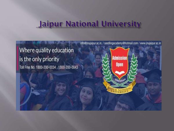 Jaipur National University Jaipur National University