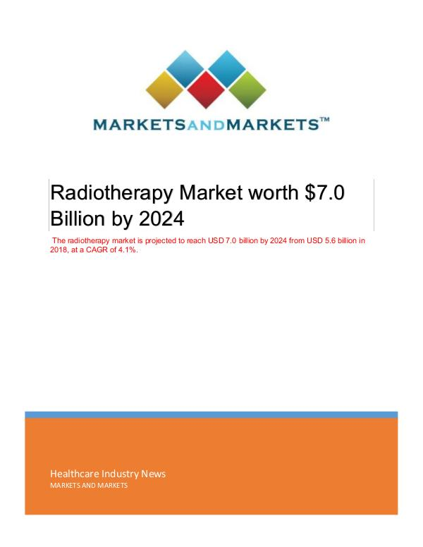 Radiotherapy Market | Emerging Trends