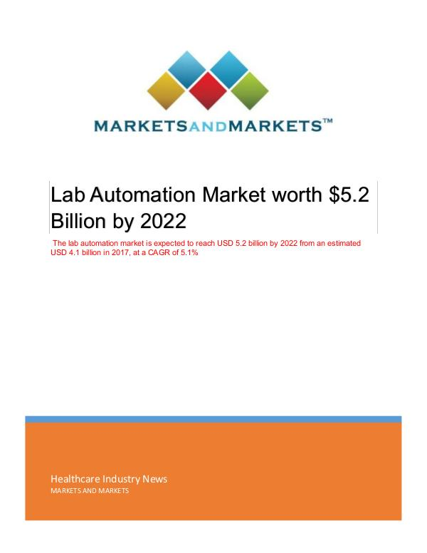 Lab Automation Market | Emerging Trends