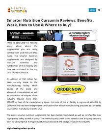 Smarter Nutrition Curcumin Supplement Benefits,Side Effects
