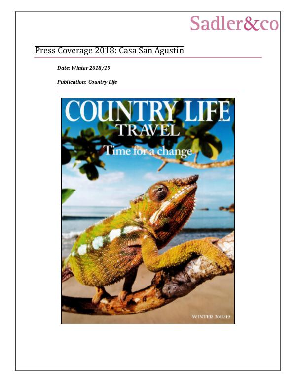 Press Coverage 2018: Casa San Agustín 77-Country Life - Casa San Agustin_ Cartagena_ Col