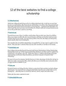 Scholarship Sharing Websites list