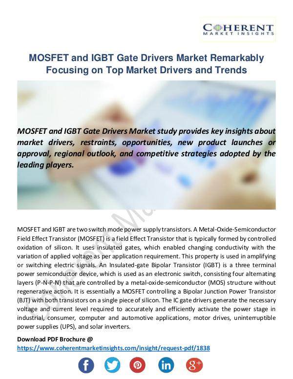 MOSFET and IGBT Gate Drivers Market
