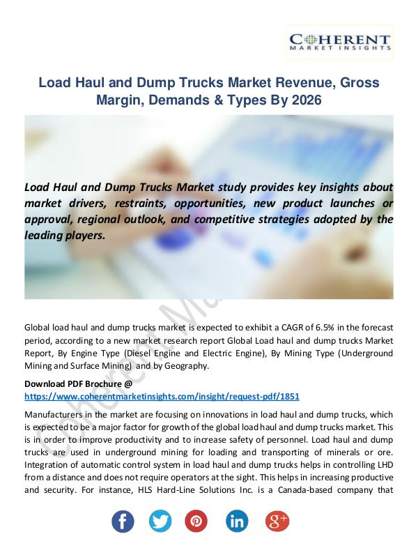 Load Haul and Dump Trucks Market