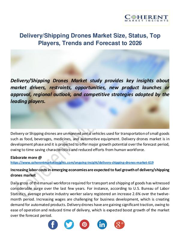 Christy Publications Delivery Shipping Drones Market