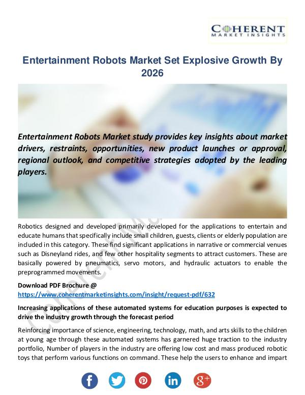 Entertainment Robots Market
