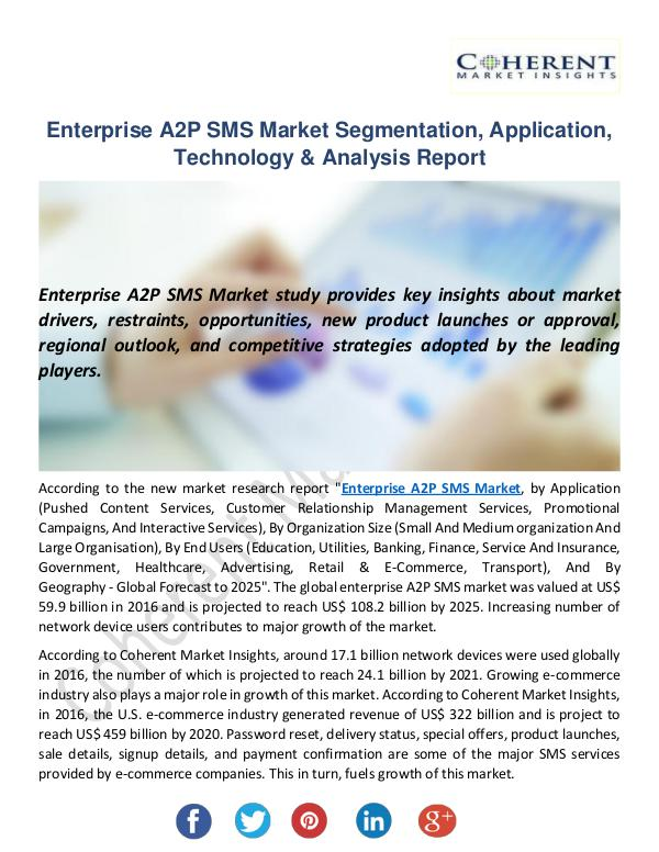 Enterprise A2P SMS Market