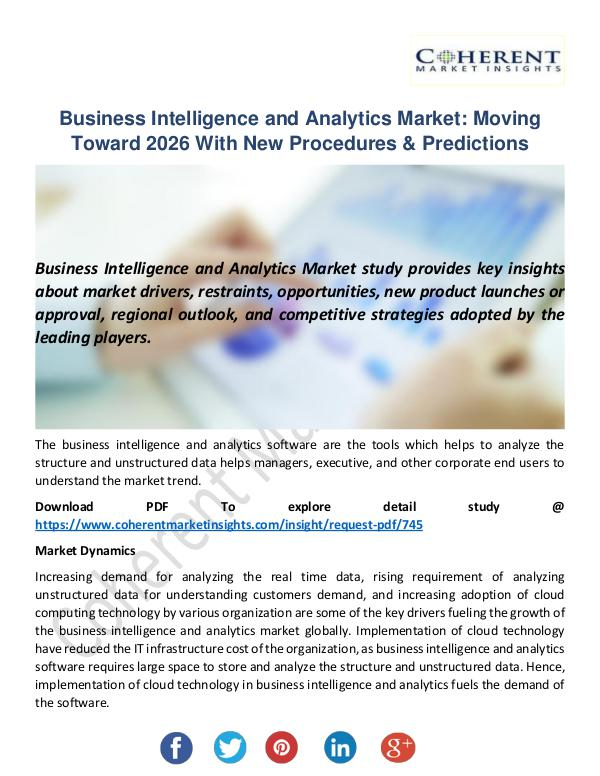 Business Intelligence and Analytics Market