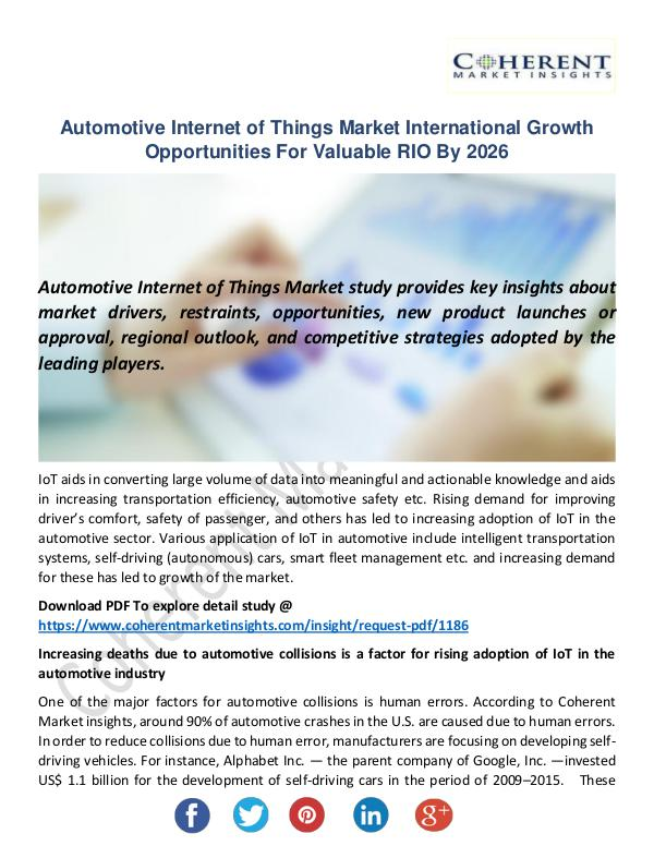 Automotive Internet of Things Market
