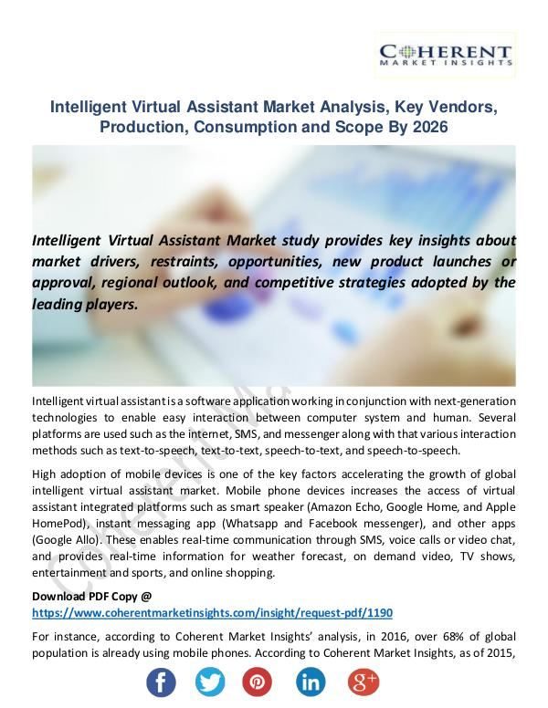 Intelligent Virtual Assistant Market