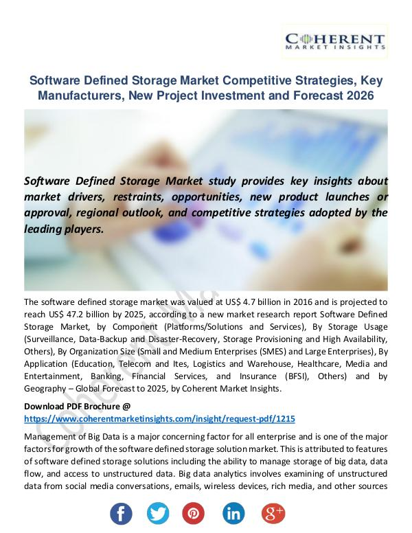 Software Defined Storage Market
