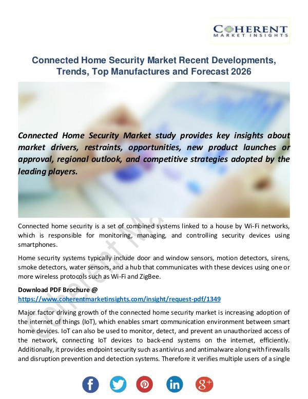Connected Home Security Market