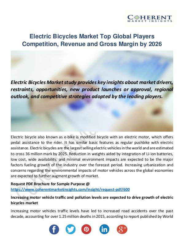 Christy Publications Electric Bicycles Market