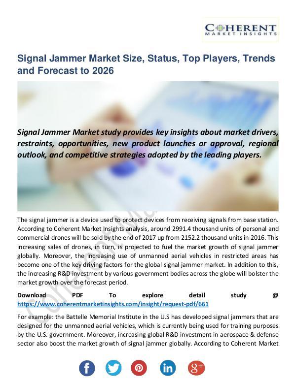 Christy Publications Signal Jammer Market