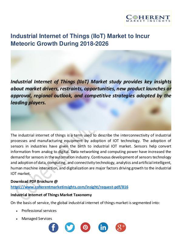 Industrial Internet of Things (IIoT) Market