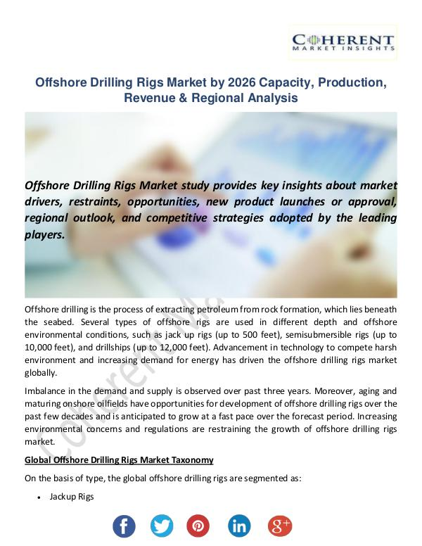 Christy Publications Offshore Drilling Rigs Market