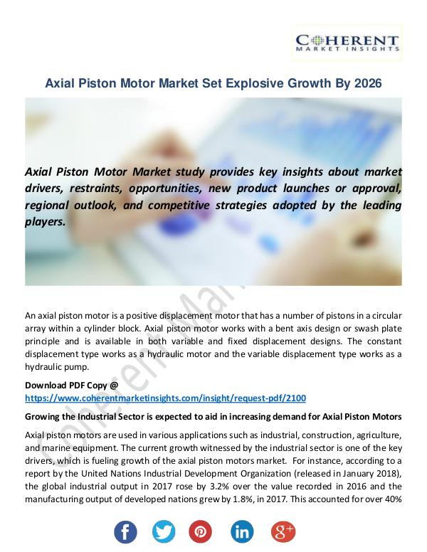 Christy Publications Axial Piston Motor Market