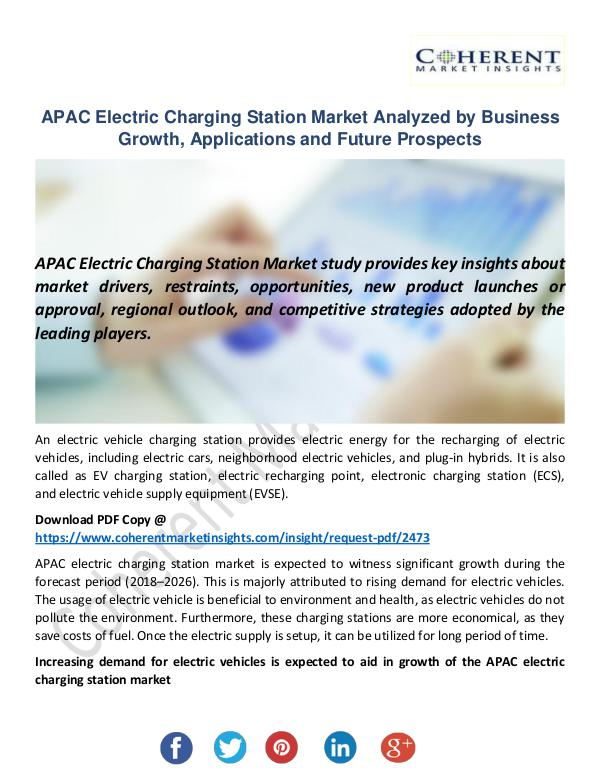APAC Electric Charging Station Market