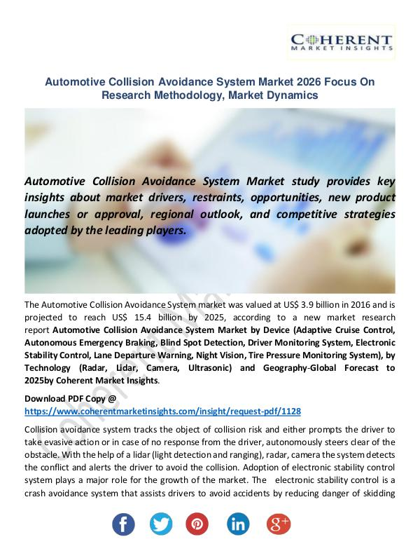 Christy Publications Automotive Collision Avoidance System Market