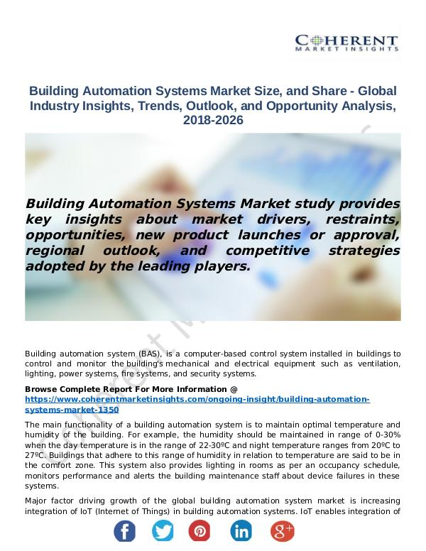 Christy Publications Building Automation Systems Market