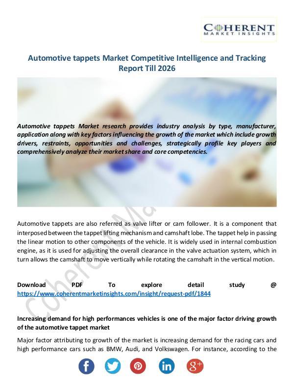 Automotive tappets Market