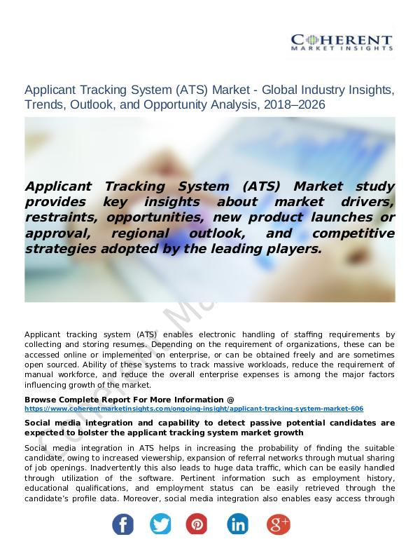 Applicant Tracking System (ATS) Market