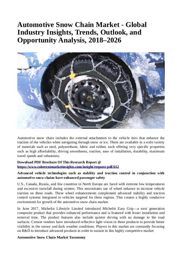 Automotive Snow Chain Market
