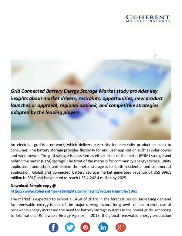 Christy Publications Grid Connected Battery Energy Storage Market